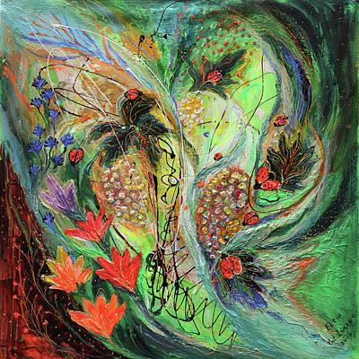 Four Seasons Of Vine Summer Art Print by Elena Kotliarker