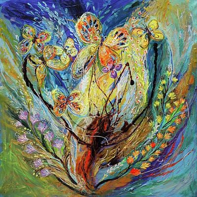 Four Seasons Of Vine Winter Art Print by Elena Kotliarker