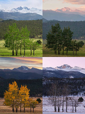 Photograph - Four Seasons - Rocky Mountain National Park by Aaron Spong