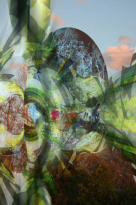 Digital Art - Four Seasons With Rooster 2 by rd Erickson