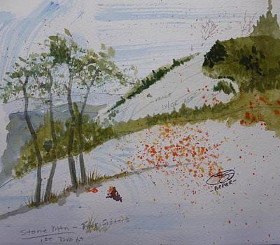Painting - Four Sisters - First Draft by Joel Deutsch