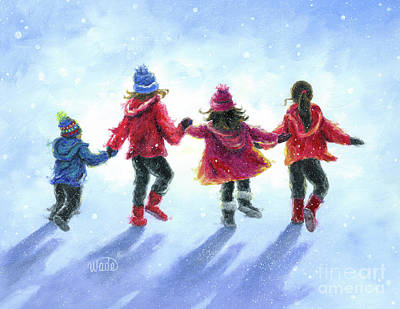 Children Playing In Snow Paintings | Fine Art America