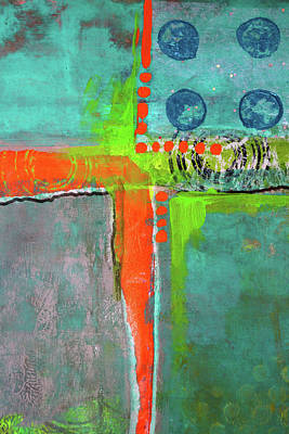 Mixed Media - Four Square by Nancy Merkle
