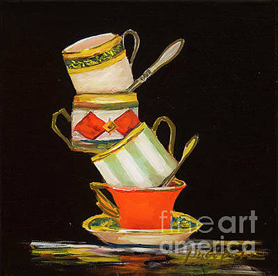 Painting - Four Stack Cups by Pati Pelz