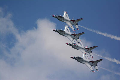 Photograph - Four Thunderbirds 2 by Raymond Salani III