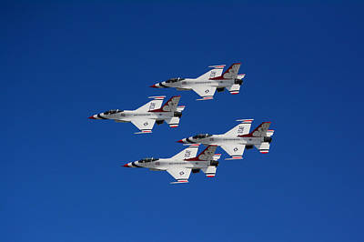 Photograph - Four Thunderbirds by Raymond Salani III