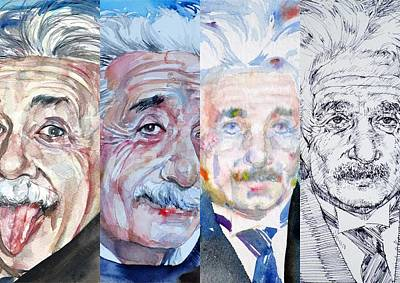 Painting - Four Times Einstein by Fabrizio Cassetta