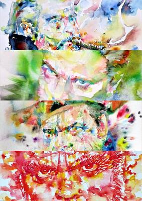 Painting - Four Times Orson Welles by Fabrizio Cassetta