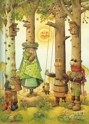 Four Trees Art Print by Kestutis Kasparavicius