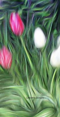 Photograph - Four Tulips by Lenore Senior