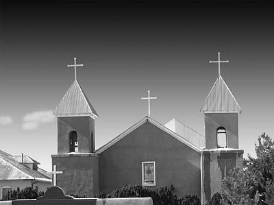 Photograph - Four White Crosses Santa Clara New Mexico by Nathan Mccreery