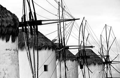 Photograph - Four Windmills Mono by John Rizzuto