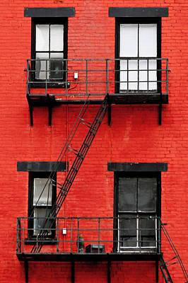 Four Windows Art Print by Keith Allen