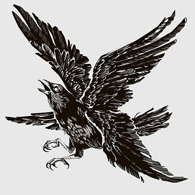 Digital Art - Four Wings by Ellan Suder