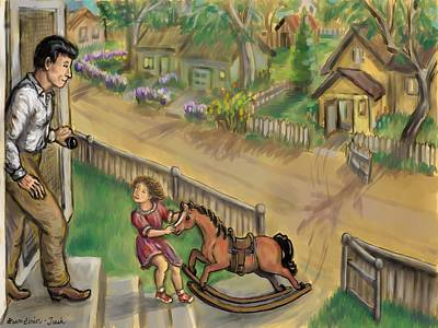 Drawing - Four Year Old Horse Thief by Dawn Senior-Trask