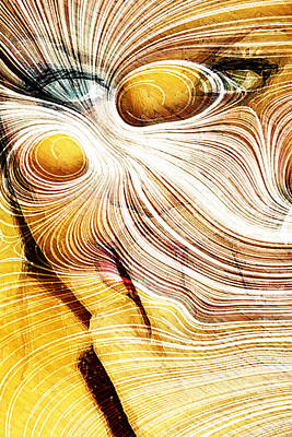 Digital Art - Four Yellow Eyes by Andrea Barbieri