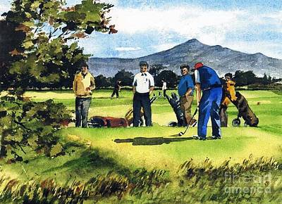 Painting - F 763  Fourball In Bray by Val Byrne