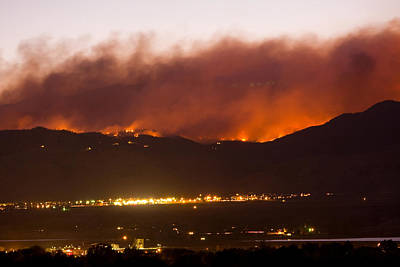 Striking-.com Photograph - Fourmile Canyon Fire Burning Above North Boulder by James BO  Insogna