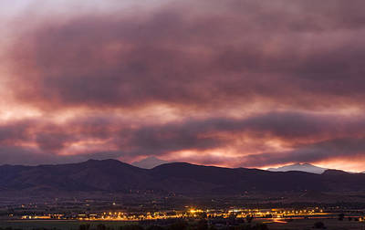 Photograph - Fourmile Canyon Labor Day Boulder County Wildfire Smoke North Sky Panorama by James BO  Insogna