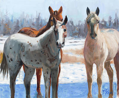 Painting - Four's A Crowd by Billie Colson