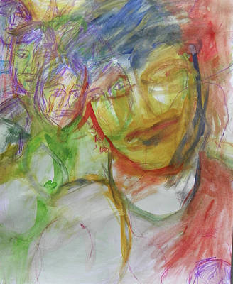 Painting - Four's A Crowd by Judith Redman