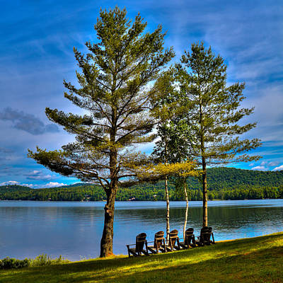 Fourth Lake At The Woods Inn Art Print by David Patterson