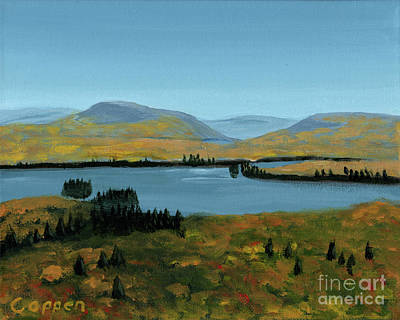 Painting - Fourth Lake From Rondaxe In Autumn by Robert Coppen