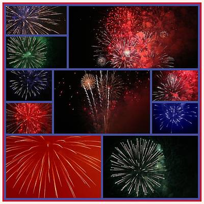 Photograph - Fourth Of July Collage by Paula Tohline Calhoun