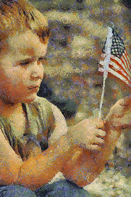 Fourth Of July Art Print by Elaine Frink