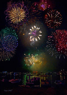 Photograph - Fourth Of July Fireworks by Marie Hicks