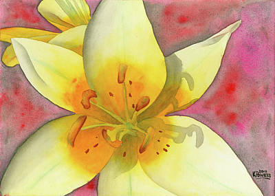 Painting - Fourth Of July Flower by Ken Powers