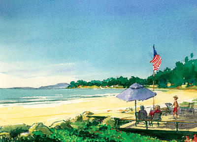 Ray Cole Painting - Fourth Of July by Ray Cole