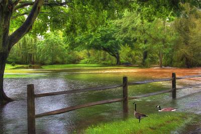 Floods Digital Art - Fourth Street Flood by Sharon Batdorf
