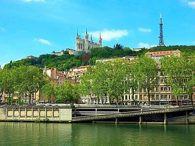 Photograph - Fourviere Across The Saone by Betty Buller Whitehead