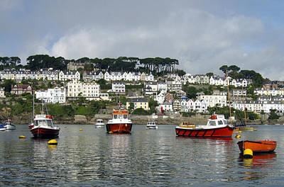 Photograph - Fowey Harbor Cornwall by Kurt Van Wagner