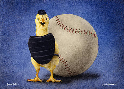 Wall Art - Painting - Fowl Ball... by Will Bullas