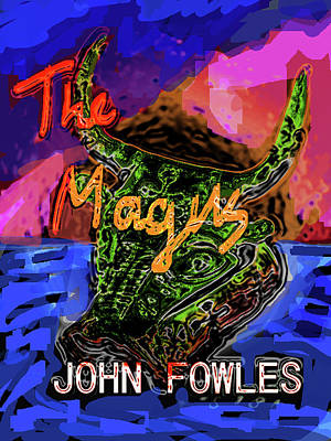 Famous Book Mixed Media - Fowles Magus Poster  by Paul Sutcliffe