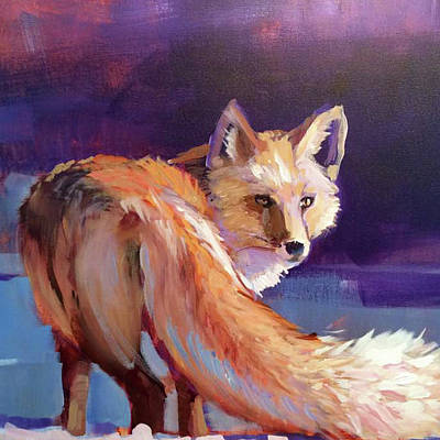 Painting - Fox 1 by Susan Bradbury