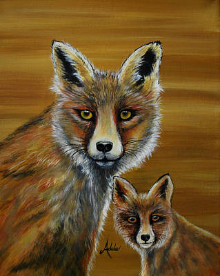 Painting - Fox by Adele Moscaritolo