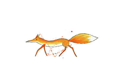 White-tailed Painting - Fox  by Andrew Hitchen