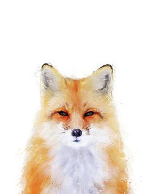 Fox Digital Art - Fox Animal Art by Mima Mariani