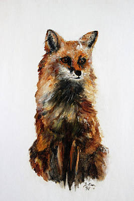 Painting - Tokala - Fox by Barbie Batson