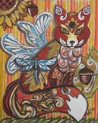 Painting - Fox Fairy by Kim Selig