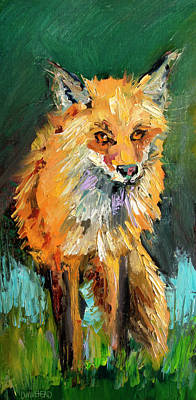 Painting - Fox Fun by Diane Whitehead