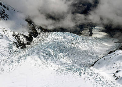 Photograph - Franz Joseph Glacier From Above by Nicholas Blackwell