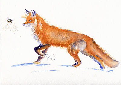 Painting - Fox Hunt by Debra Hall