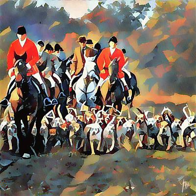 Digital Art - Fox Hunting 25 by Yury Malkov