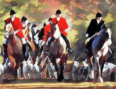 Digital Art - Fox Hunting 27 by Yury Malkov