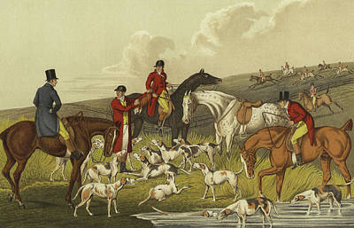 Foxes Drawing - Fox Hunting, The Death by Henry Thomas Alken