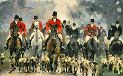 Fox Hunting Art Print